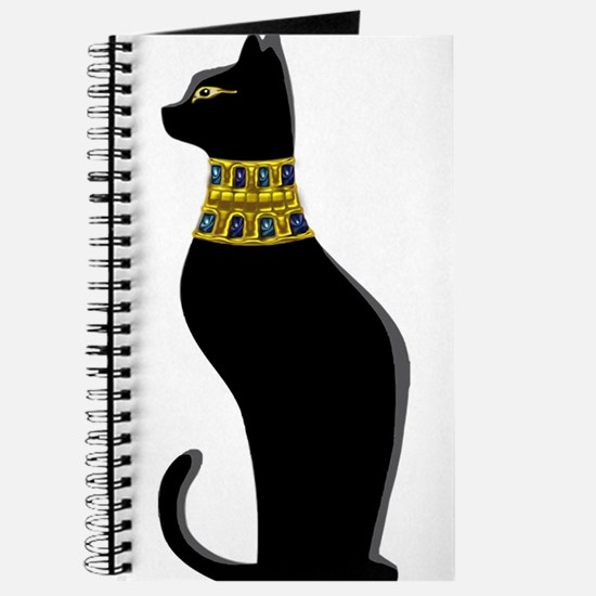 Black Eqyptian Cat with Gold Jeweled Colla Journal