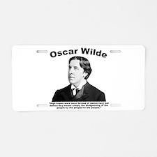 Wilde: Democracy Aluminum License Plate