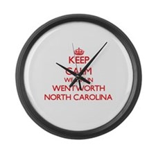 Keep calm we live in Wentworth No Large Wall Clock