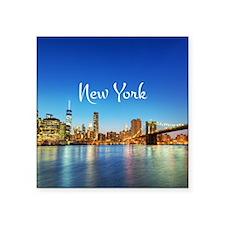 "New York Square Sticker 3"" x 3"""
