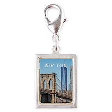 New York Silver Portrait Charm