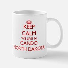 Keep calm we live in Cando North Dakota Mugs
