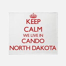 Keep calm we live in Cando North Dak Throw Blanket