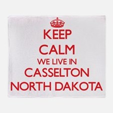 Keep calm we live in Casselton North Throw Blanket