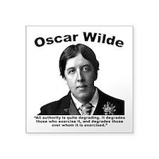 "Wilde: Authority Square Sticker 3"" x 3"""