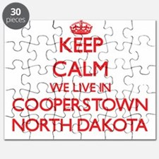 Keep calm we live in Cooperstown North Dako Puzzle
