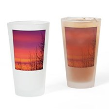 One Fine Morning Pink Sunrise Drinking Glass