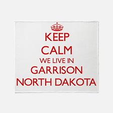 Keep calm we live in Garrison North Throw Blanket