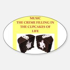 music Sticker (Oval)