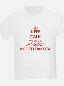 Keep calm we live in Langdon North Dakota T-Shirt