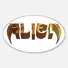 """Alien"" Plasma Oval Decal"