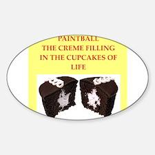 paintball Sticker (Oval)