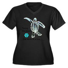 Cute Marine conservation Women's Plus Size V-Neck Dark T-Shirt