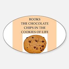 books Sticker (Oval)