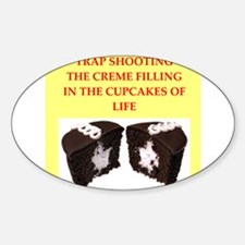 trap shooting Sticker (Oval)