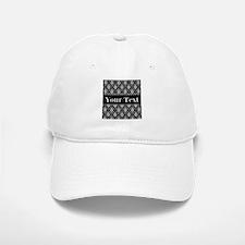 Personalizable Black White Damask Baseball Baseball Baseball Cap