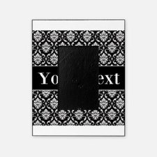Personalizable Black White Damask Picture Frame