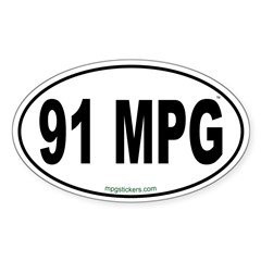 91 MPG Euro Decal