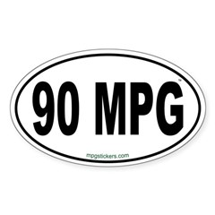 90 MPG Euro Decal