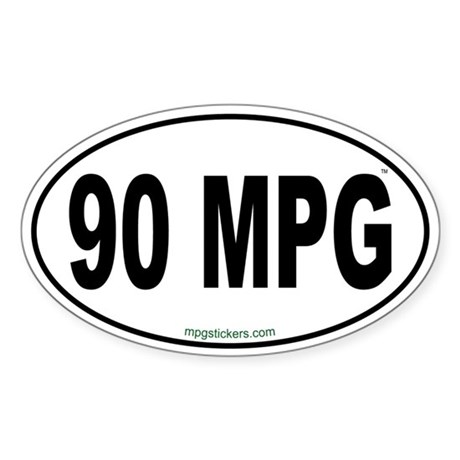 90 MPG Euro Sticker
