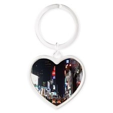 Times Square Heart Keychain