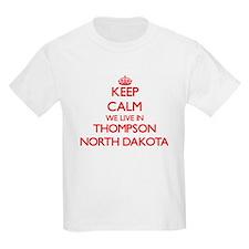 Keep calm we live in Thompson North Dakota T-Shirt