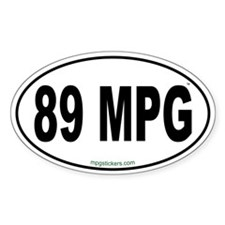 89 MPG Euro Decal