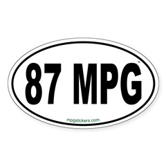 87 MPG Euro Decal