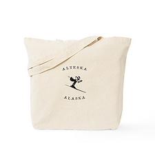 Alyeska Alaska Skiing Tote Bag