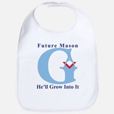 He'll Grow Into It Reversed G Bib