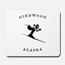 Girdwood Alaska Skiing Mousepad