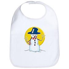 Evil Snowman Bib