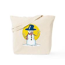 Evil Snowman Tote Bag
