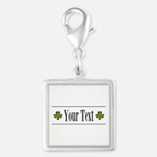 Personalizable Green Shamrock Charms