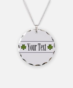 Personalizable Green Shamrock Necklace