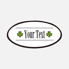 Personalizable Green Shamrock Patches