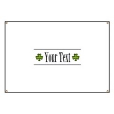 Personalizable Green Shamrock Banner