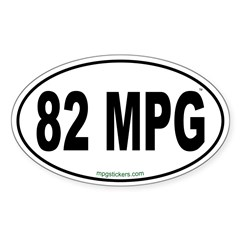 82 MPG Euro Decal