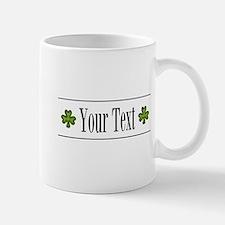 Personalizable Green Shamrock Mugs