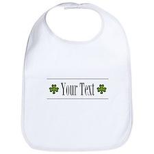 Personalizable Green Shamrock Bib