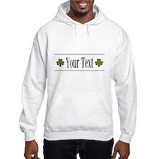 Personalizable Green Shamrock Hoodie
