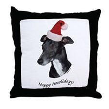 Howliday Whippet Throw Pillow