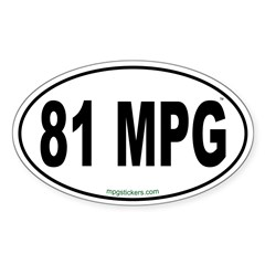 81 MPG Euro Decal