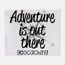 Adventure is Out There Throw Blanket