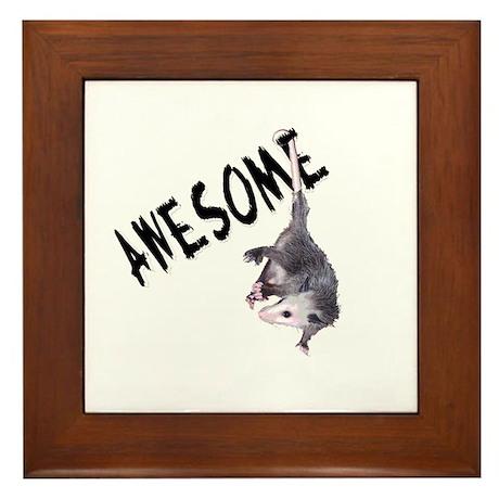 Awesome Possum Framed Tile