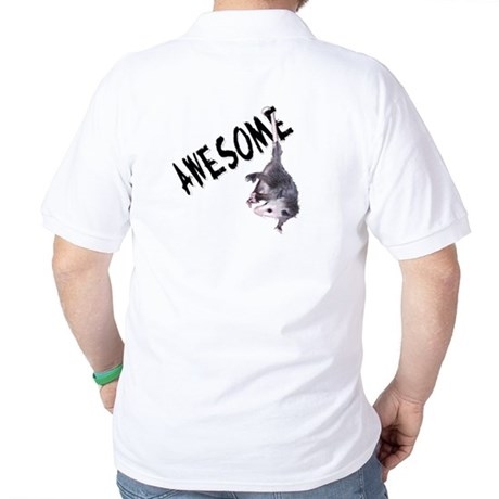 Awesome Possum Golf Shirt