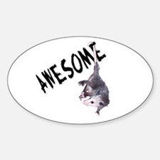 Awesome Possum Oval Decal