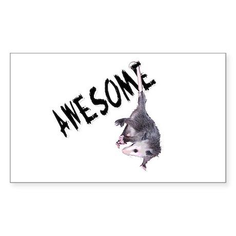 Awesome Possum Rectangle Sticker