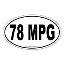 78 MPG Euro Decal
