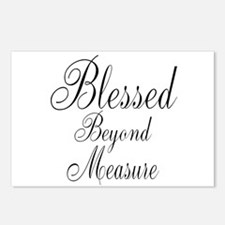 Blessed Beyond Measure Black Postcards (Package of